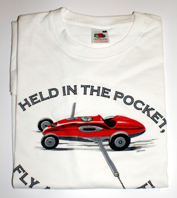 "Футболка ""HELD IN THE POCKET, FLY AS A ROCKET"". Размер - XXL (58-60). Цвет - белый"